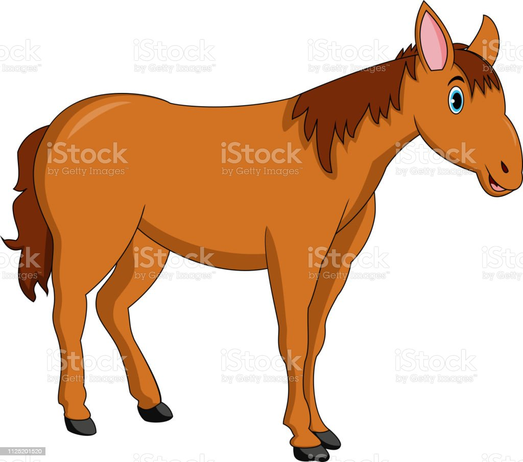 Cute Horse Cartoon Stock Illustration Download Image Now Istock
