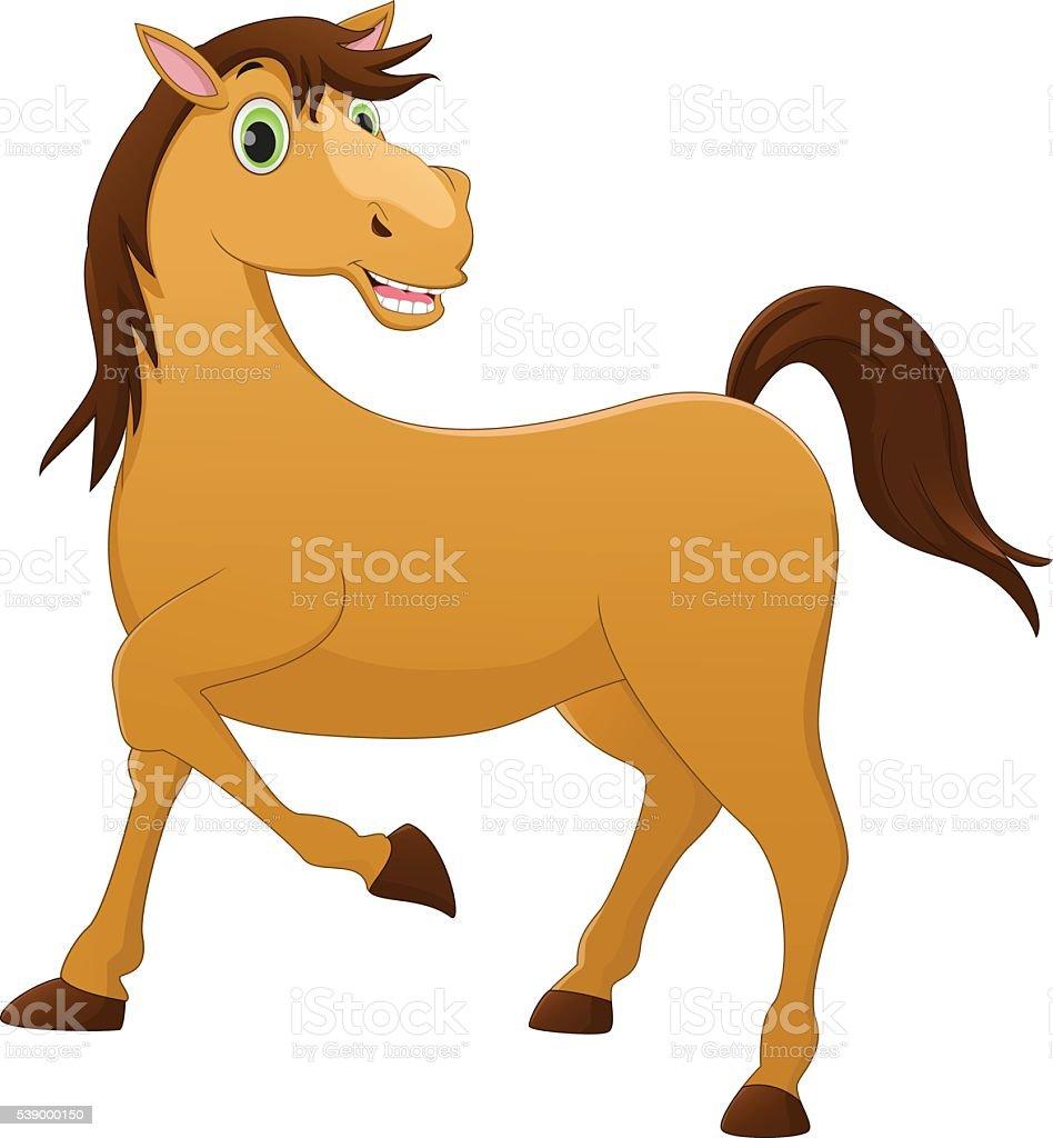 cute horse cartoon stock vector art more images of animal rh istockphoto com Cartoon Horse Clip Art Horse Head Clip Art