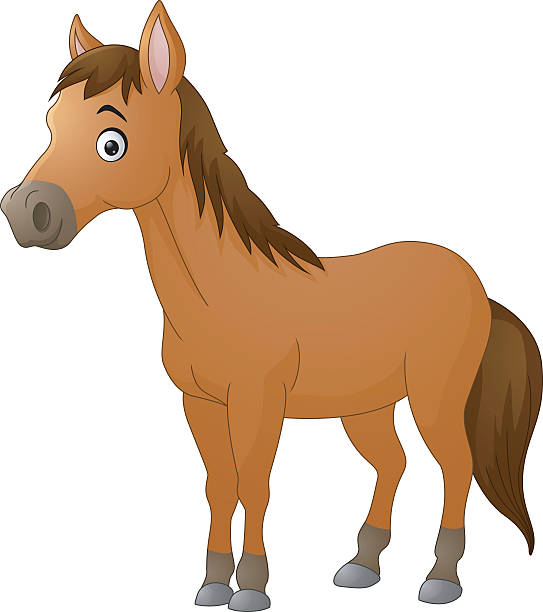 cute horse cartoon - pony stock illustrations