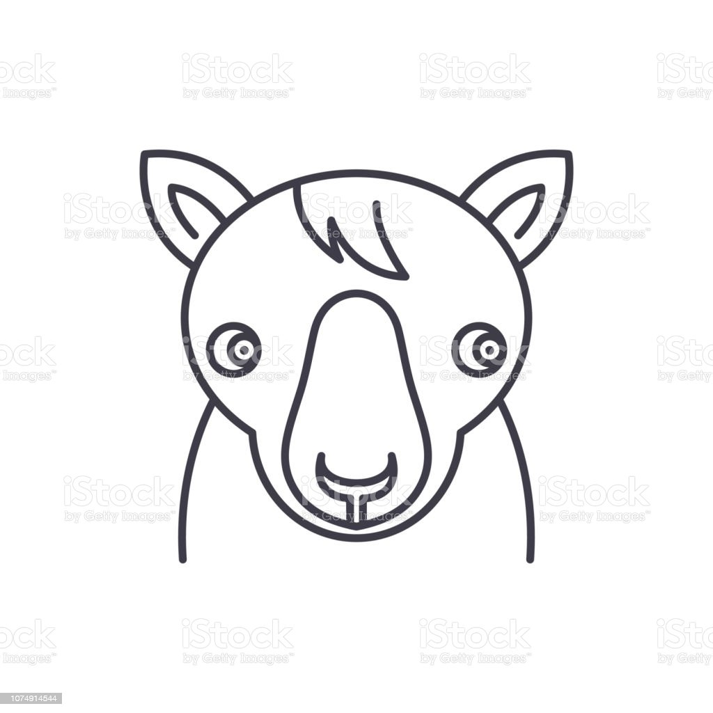 Cute Horse Line Icon Concept Cute Horse Vector Linear Illustration Symbol Sign Stock Illustration Download Image Now Istock