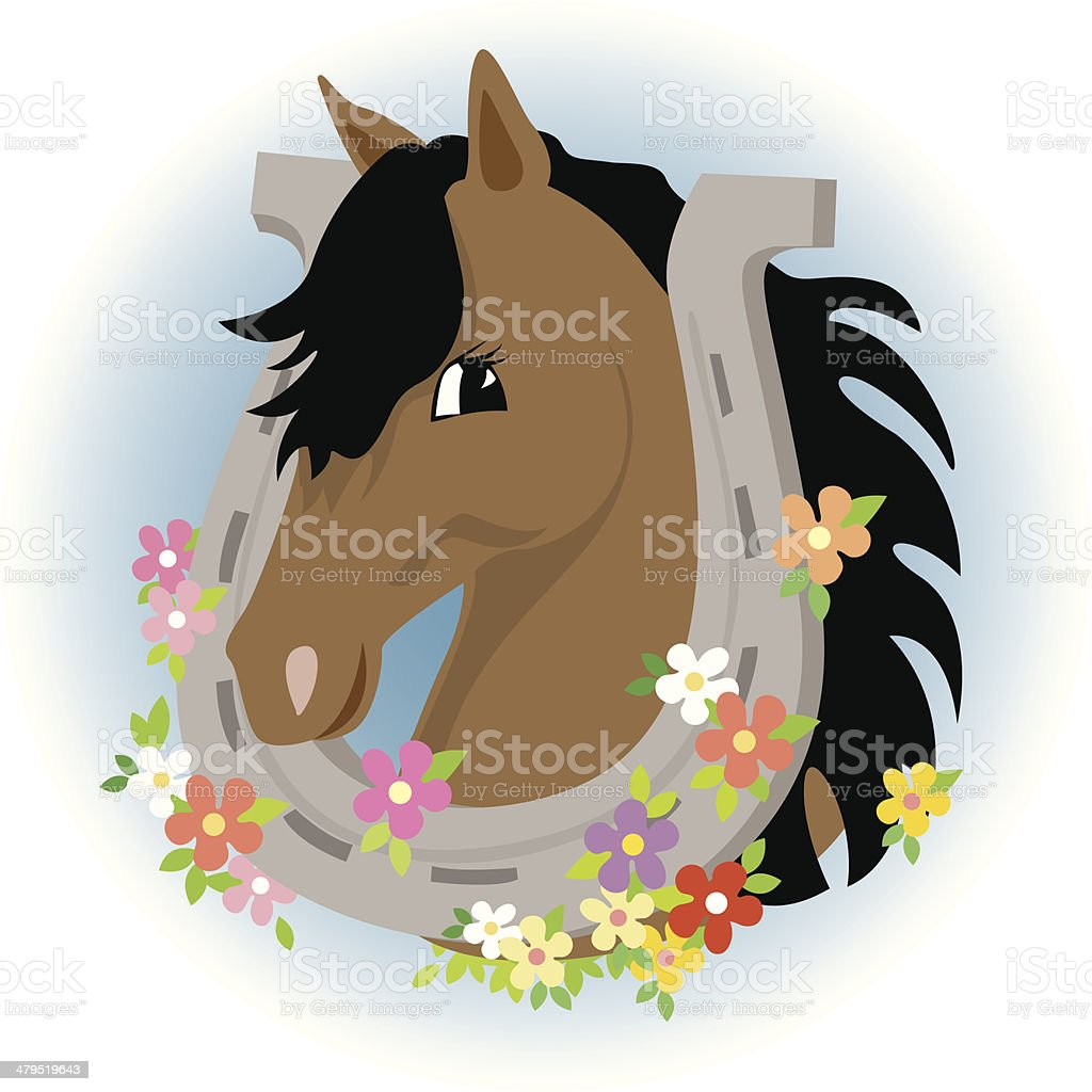 Cute horse - or is it a pony? royalty-free cute horse or is it a pony stock vector art & more images of animal
