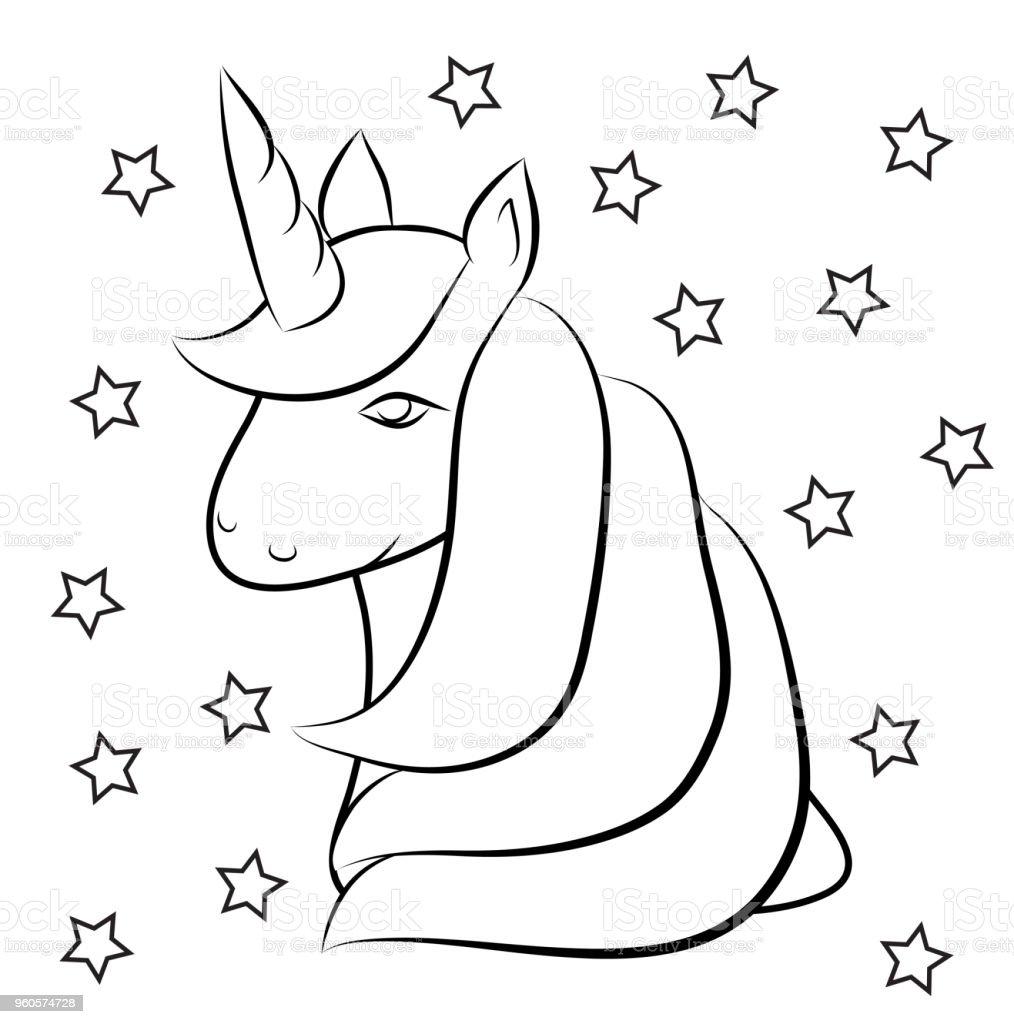 Ilustración de Princesa Caballo Lindo Poco Pony Con Alas Para ...
