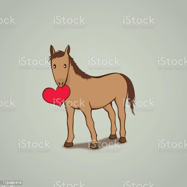 Cute horse with a red love heart vector id1134081519?b=1&k=6&m=1134081519&s=612x612&h=ou4aadd2gkdnhv3jdjjfu 3o7icao3rlpoyi gficd4=