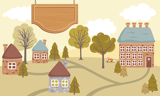 Cute Houses On Summer Hills