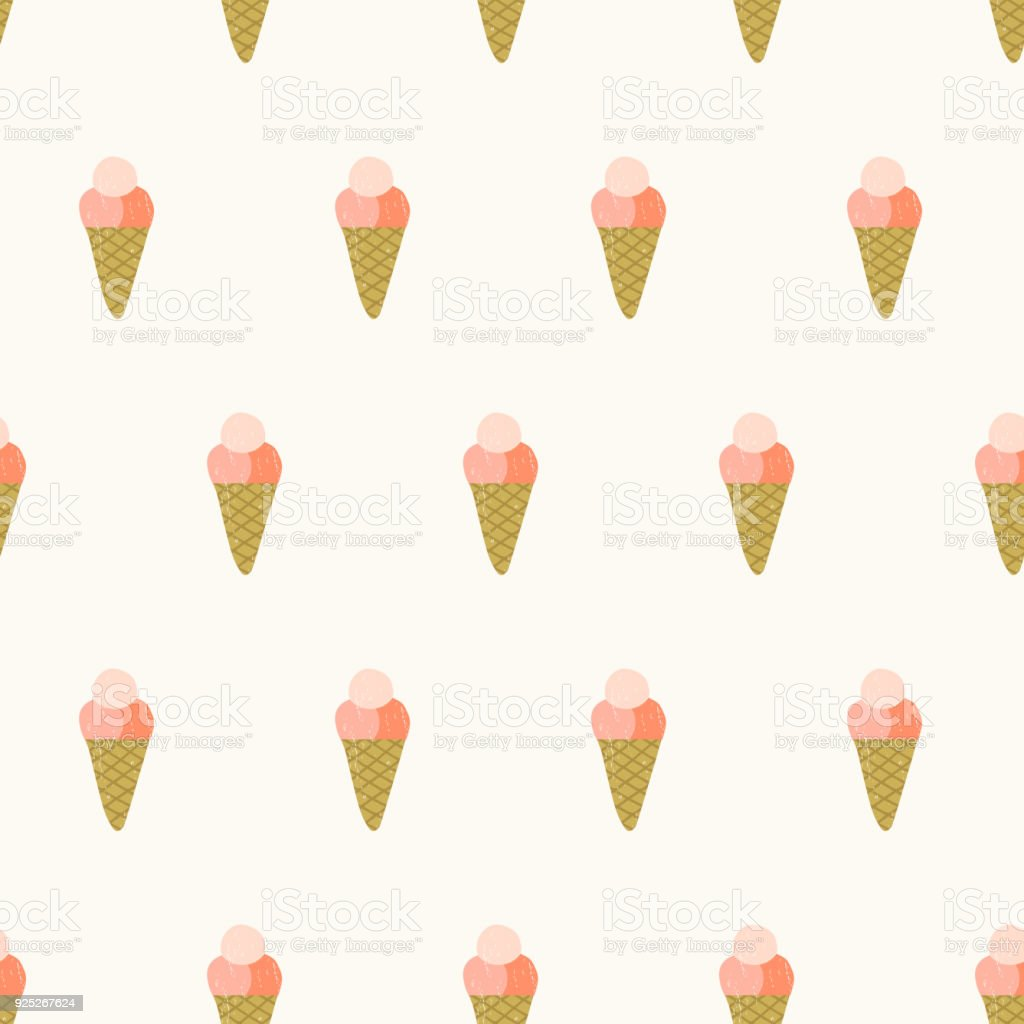 Background Of Cute Ice Cream With Phrase Vector: Á�わいいアイス Â�リーム Ã�ターン夏の背景 - Â�イコンのベクターアート素材や画像を多数ご用意