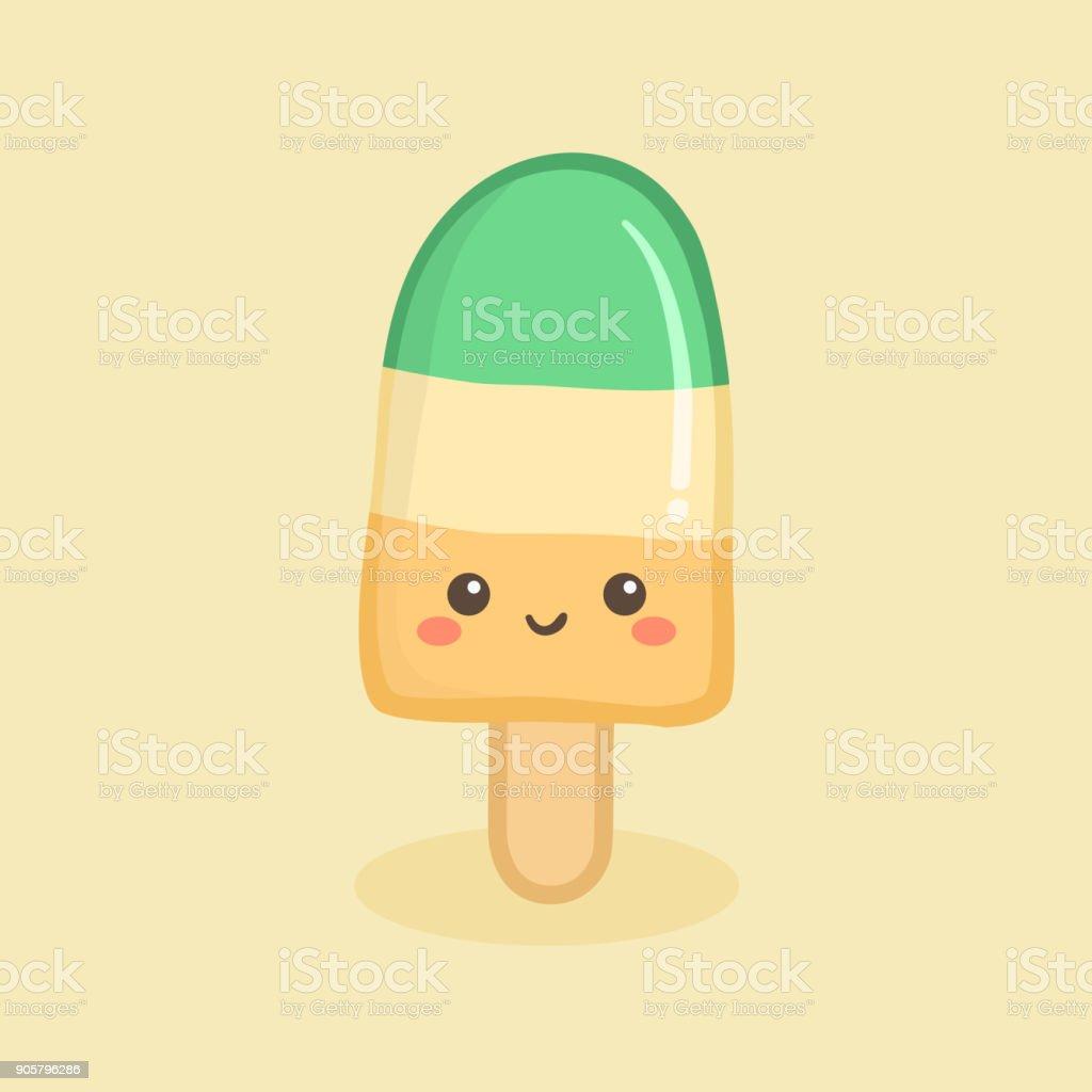 Süße Eis Stick Vektor Illustration Karikatur Stock Vektor