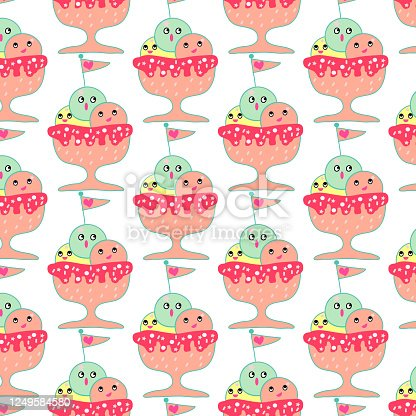 cute icecream    pattern background   design for art and print vector eps.10