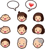 Cute Icon Set ( Emoticons ) - Dear Family Members(Love).