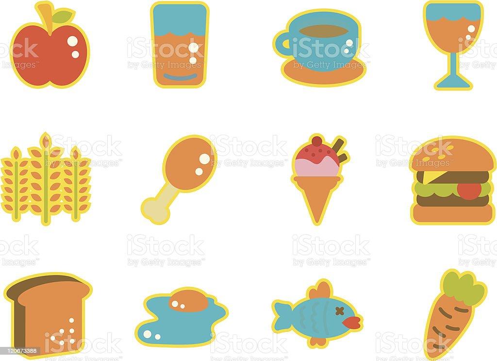 Cute Icon Set - Food royalty-free stock vector art