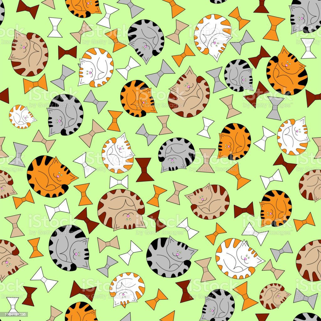 Cute In Vintage Style Illustration Seamless Pattern