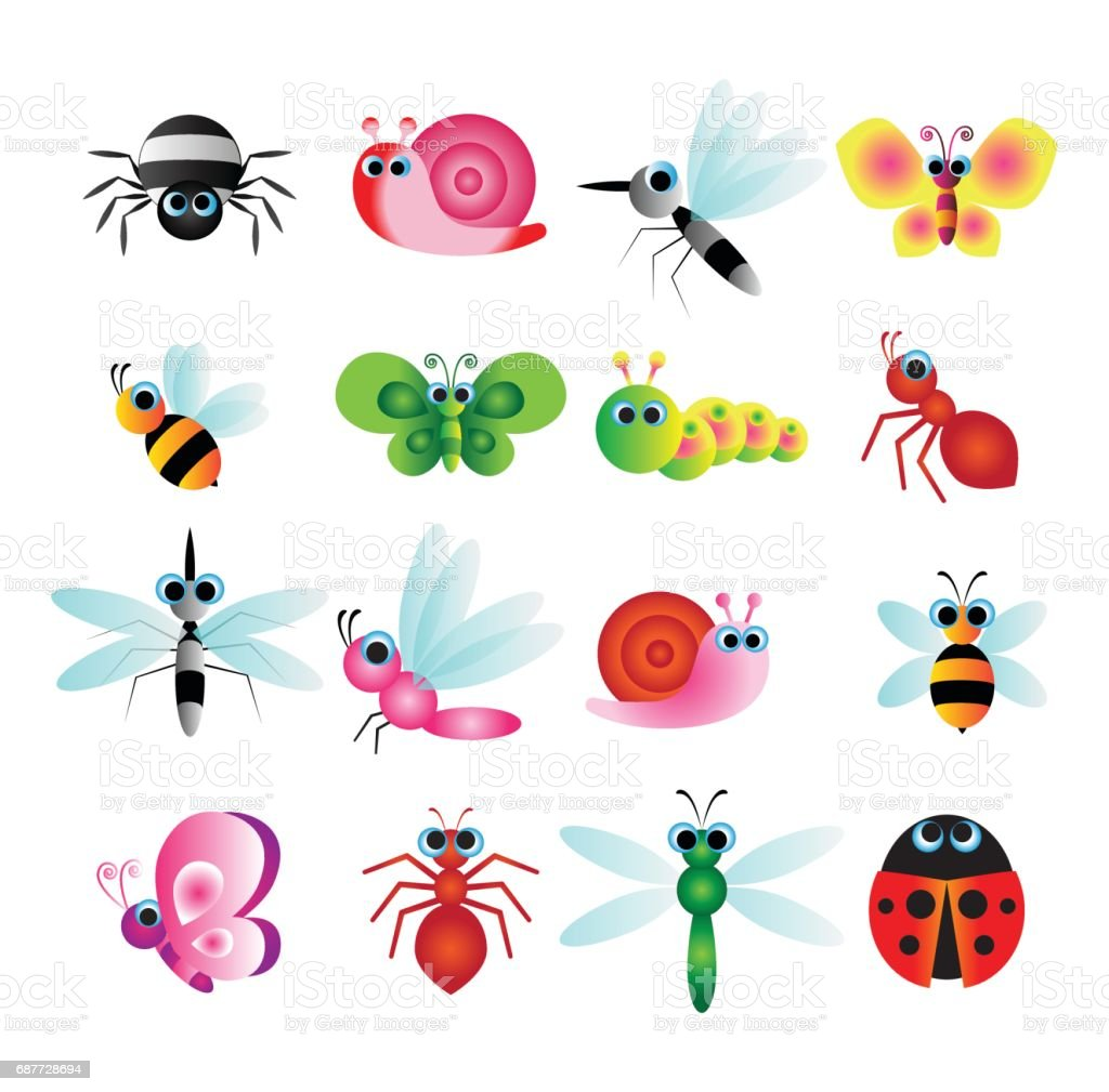 cute insect vector vector art illustration
