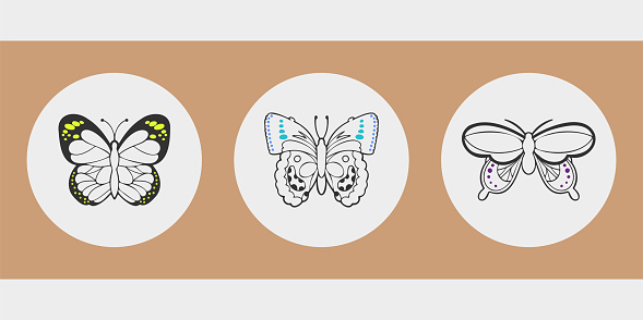 Cute insects for stories, social media profile avatars.