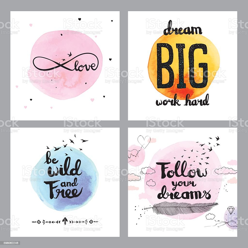 Cute Inspirational Quotes: Cute Inspirational Quotes Stock Vector Art & More Images