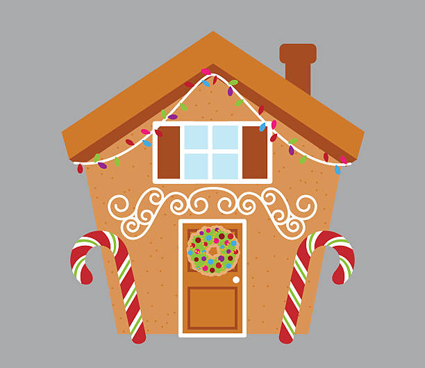 Royalty Free Gingerbread House Clip Art, Vector Images ...