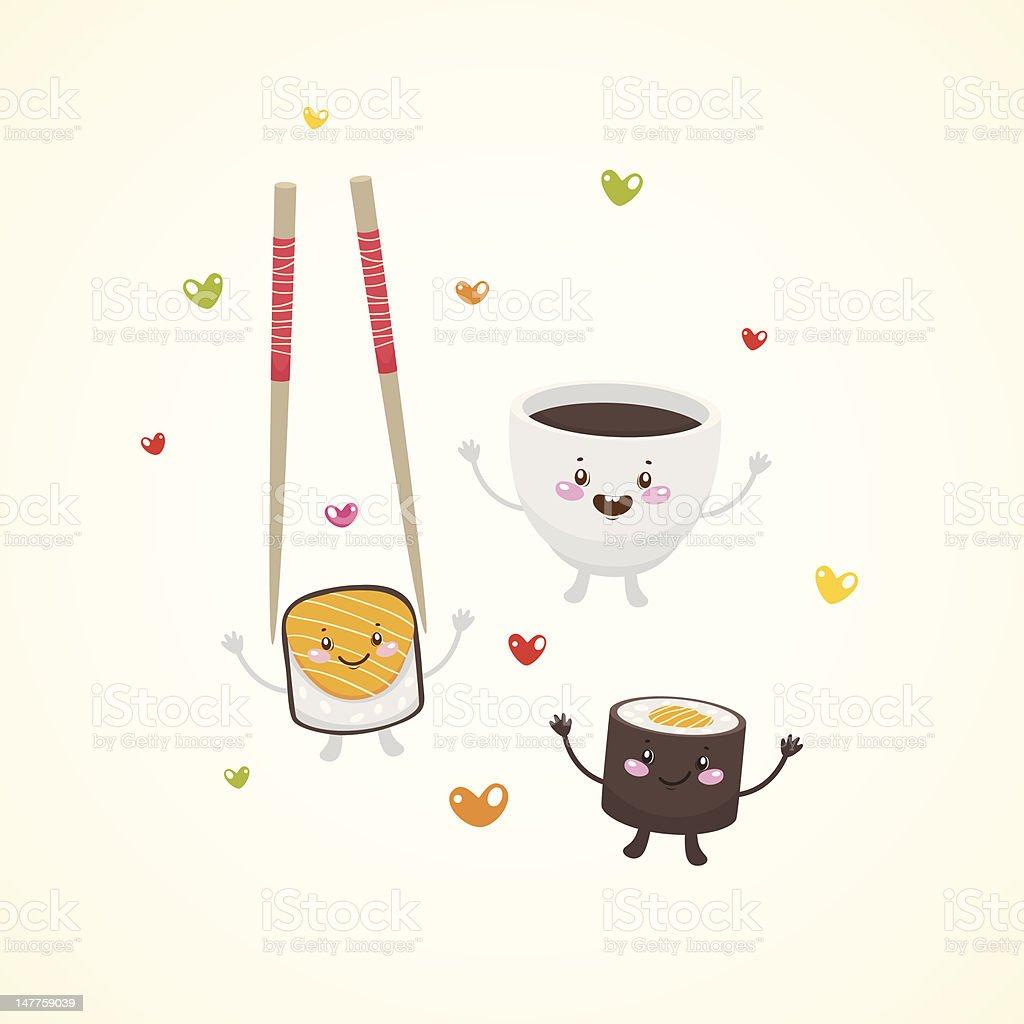 Cute japan food royalty-free cute japan food stock vector art & more images of abstract