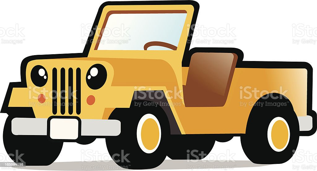 cute jeep royalty-free stock vector art