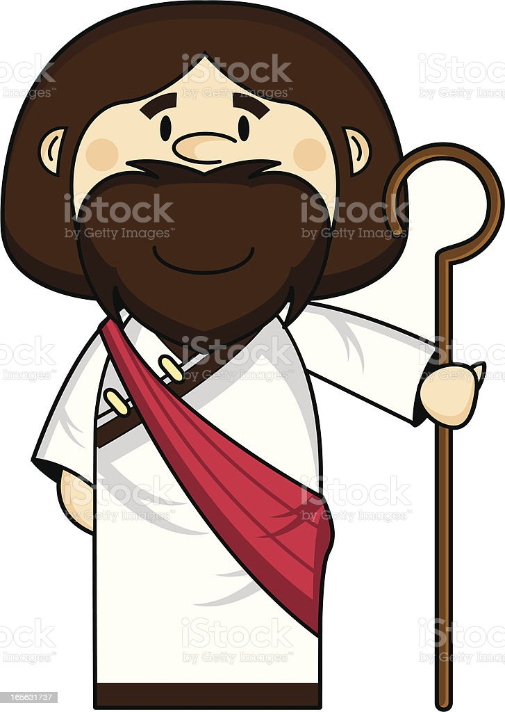 Cute Jesus Christ Character royalty-free stock vector art