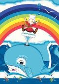 Cute Jonah and the Whale Bible Scene