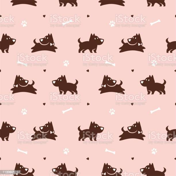 Cute jumping dog with bone and paw seamless pattern vector background vector id1133605237?b=1&k=6&m=1133605237&s=612x612&h=6yotozhg9aqe 0ysg7wgujlb4tvqfqygm7o7chbz iy=