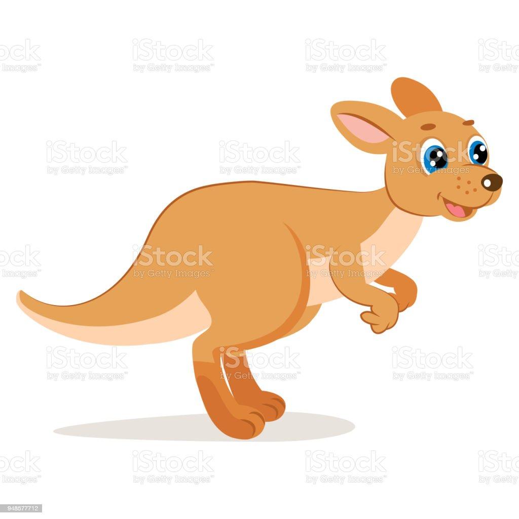 かわいいジャンプ カンガルー ベクトルオーストラリアの動物のベクトル