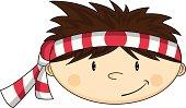 istock Cute Karate Boy Character 165908280