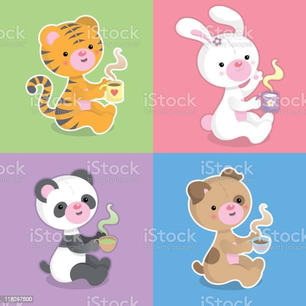 Cute kawaii animals drinking coffee choco and tea vector id118247500?b=1&k=6&m=118247500&s=612x612&h=qbkaxajdjbtxwhwfnffi6t1ubgobeggtwmeqddp3m4e=