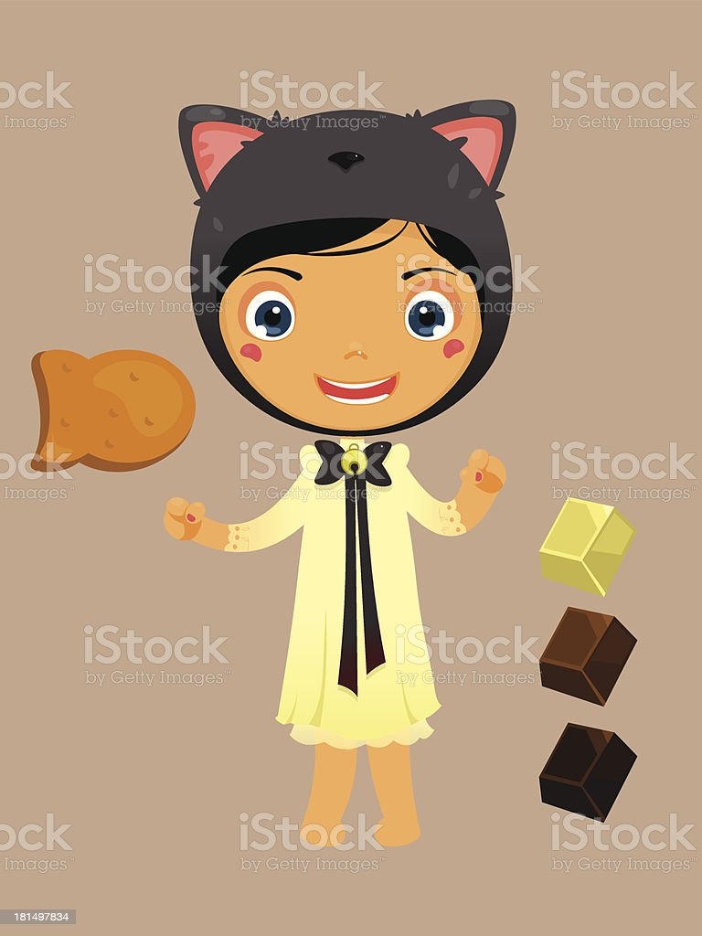 cute kid in costume royalty-free stock vector art