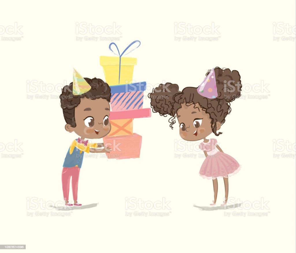 Niedlichen Kinder Geburtstag Party Anwesend