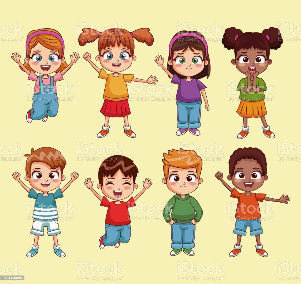 cute kids cartoon royalty free cute kids cartoon stock vector art more images - Kids Cartoon Picture