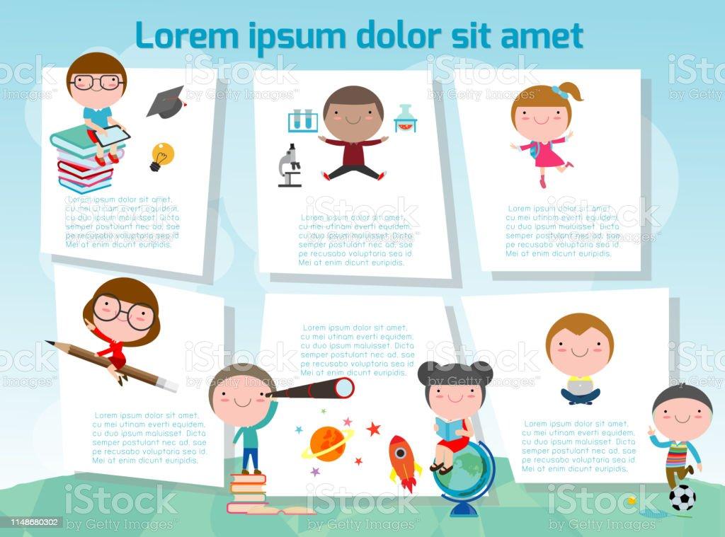 Cute Kids Education School Kids Or Back To School Template