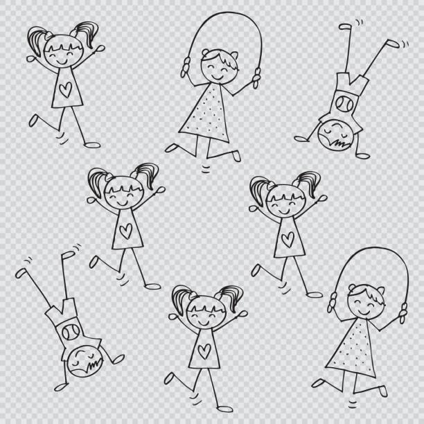 stockillustraties, clipart, cartoons en iconen met leuke kinderen spelen. cartoon stijl. - mini amusementpark