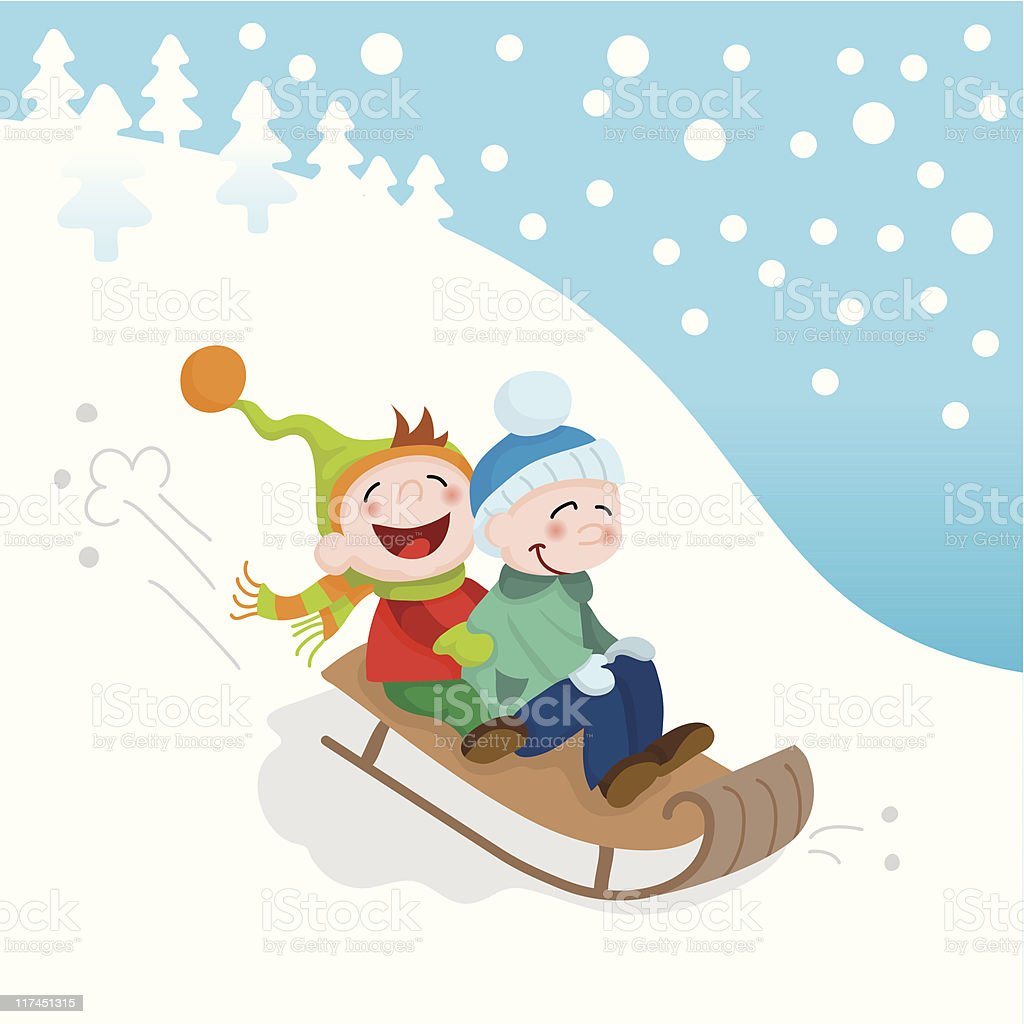 royalty free sledding clip art vector images