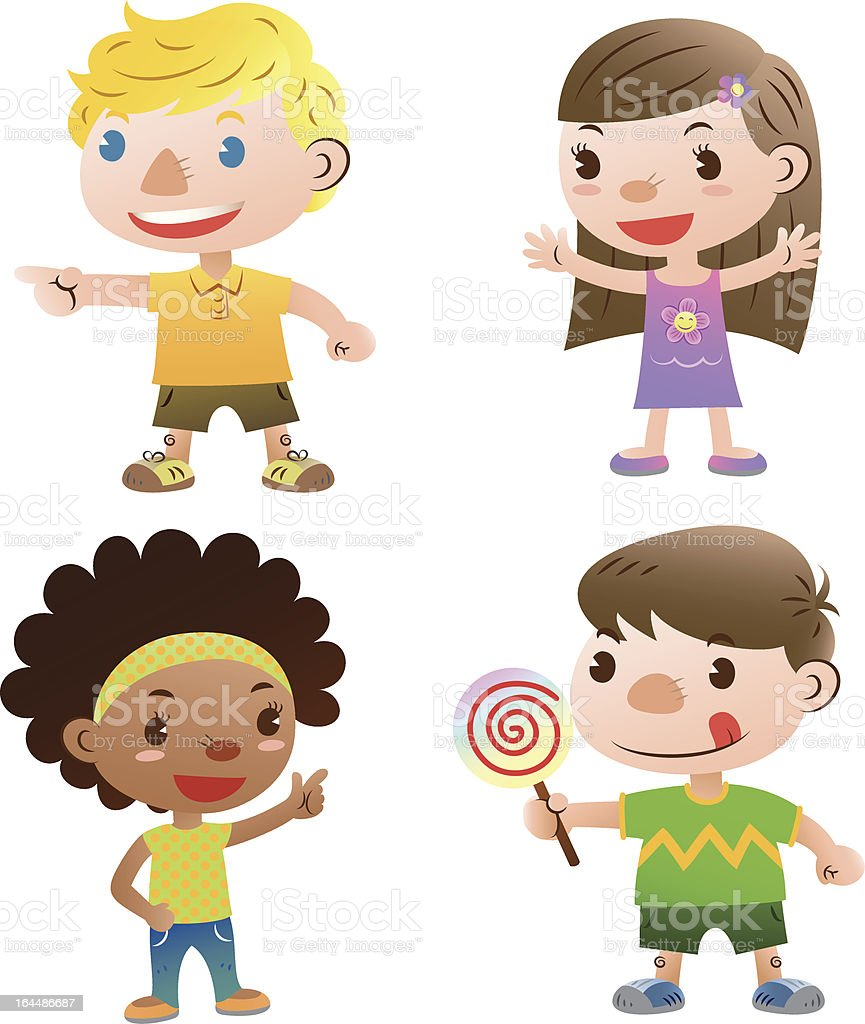cute kids royalty-free stock vector art