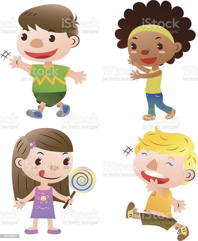 cute kids royalty-free stock vector art
