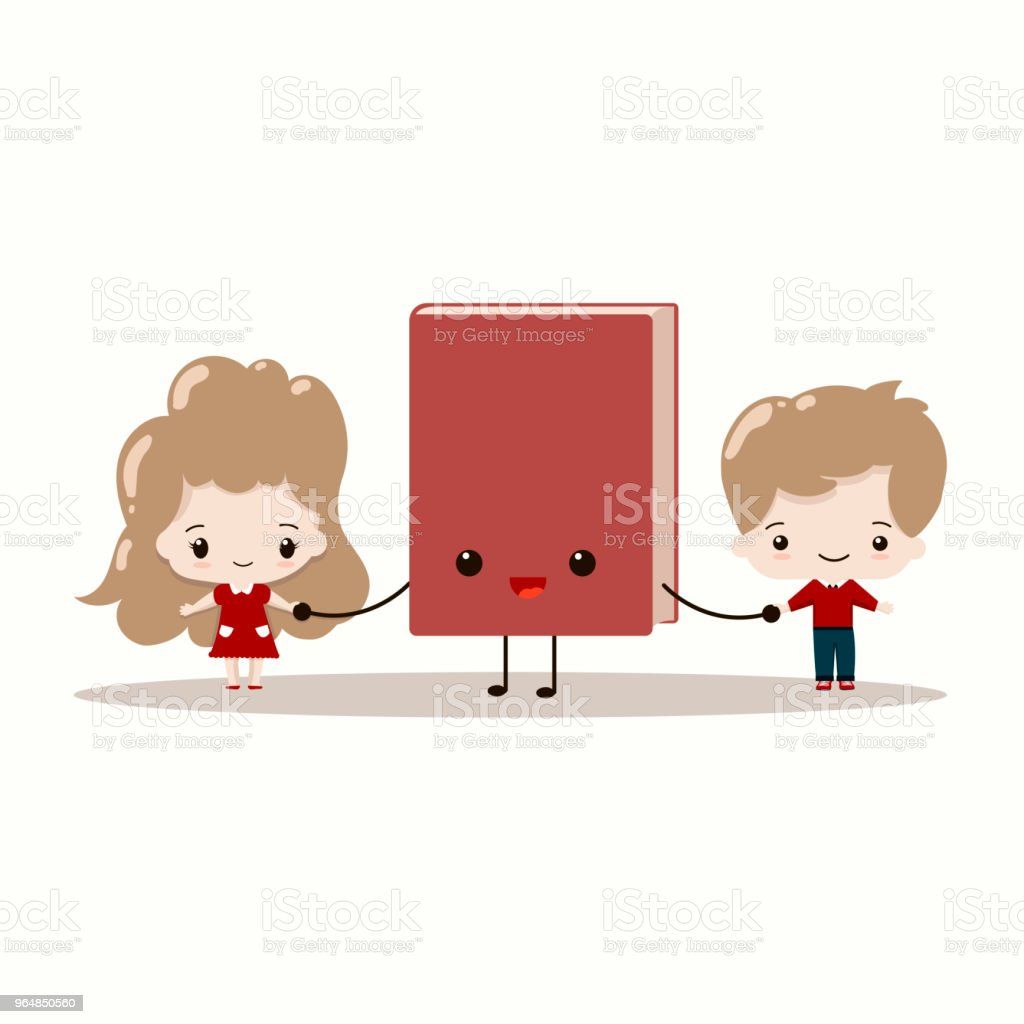 Cute kids with book vector illustration. royalty-free cute kids with book vector illustration stock vector art & more images of baby