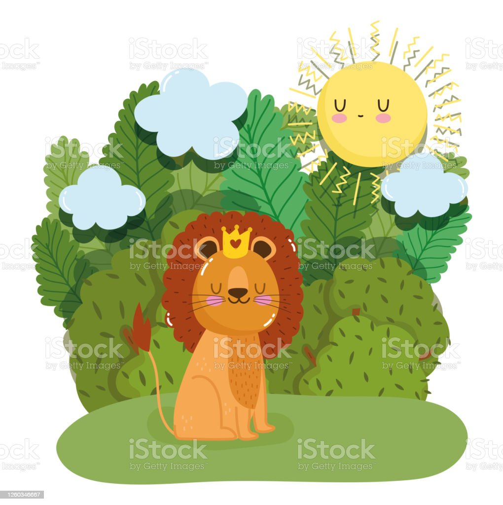 Cute King Lion With Crown Animal Grass Forest Nature Wild Cartoon Stock Illustration Download Image Now Istock Directed by roger allers, rob minkoff. https www istockphoto com vector cute king lion with crown animal grass forest nature wild cartoon gm1260346667 369143739