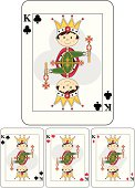 Cute King Playing Card