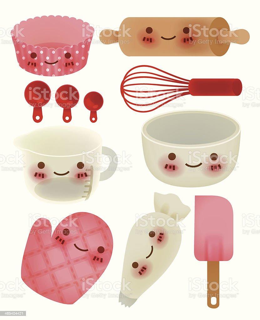 Ilustraci n de linda utensilios de cocina y m s banco de for Utensilios alta cocina