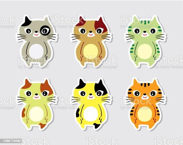 Cute kitten cat cartoon graphic collection vector vector id1086718480?b=1&k=6&m=1086718480&s=612x612&h=yxfwue1phlmi0b bh9pkeyqizntu9b9j9jivkdm7jva=