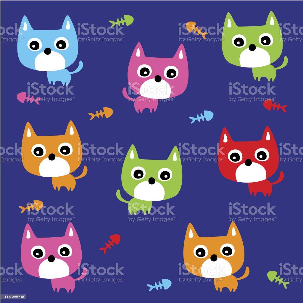 かわいい子猫の猫の壁紙 いたずら書きのベクターアート素材や画像を多数ご用意 Istock