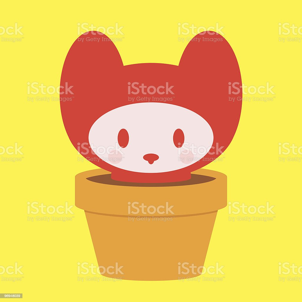 Cute kitten in pot royalty-free cute kitten in pot stock vector art & more images of animal