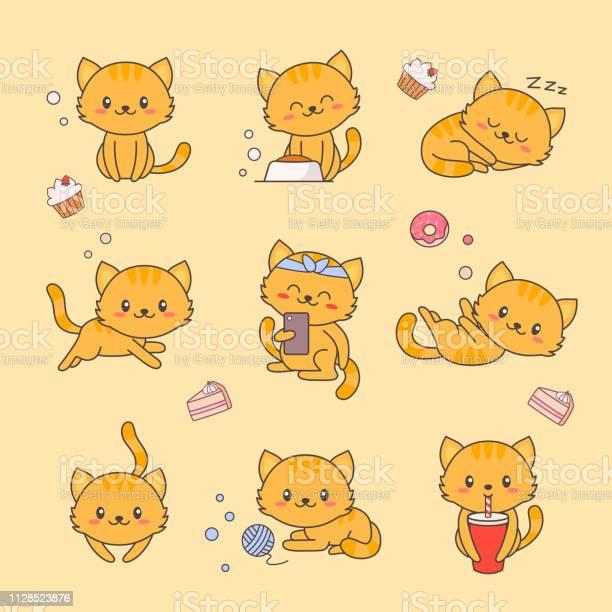Cute kitten kawaii character sticker set cat with anime face various vector id1128523876?b=1&k=6&m=1128523876&s=612x612&h=tcpatsvy9qzxjw6bq7m93wpa435ogirxhdlaayeb2uq=