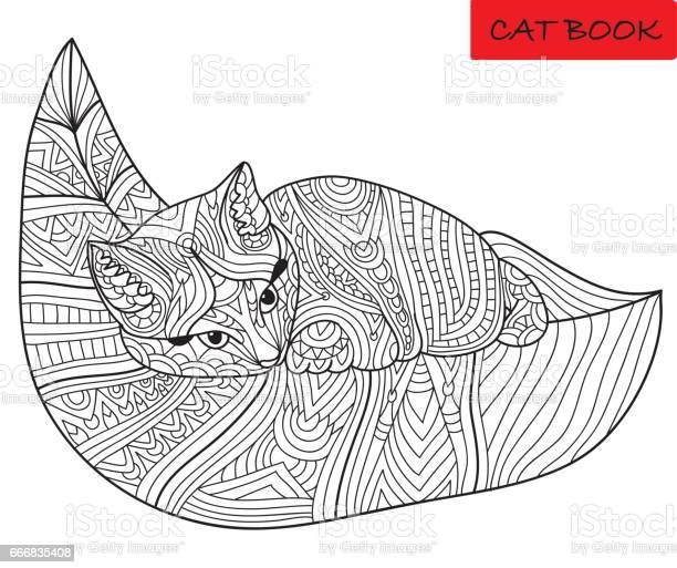Cute kitten on a leaf monochrome ink drawing with tribal patterns vector id666835408?b=1&k=6&m=666835408&s=612x612&h=vpl3p6e3vgcbeb5acqijuw0 ilrxofyjifbkdups vk=