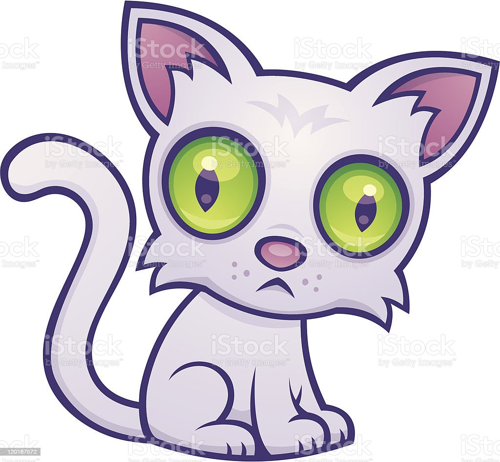 Cute Kitten vector art illustration