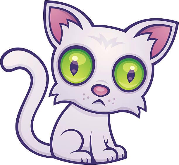 Cute Kitten vector art illustration