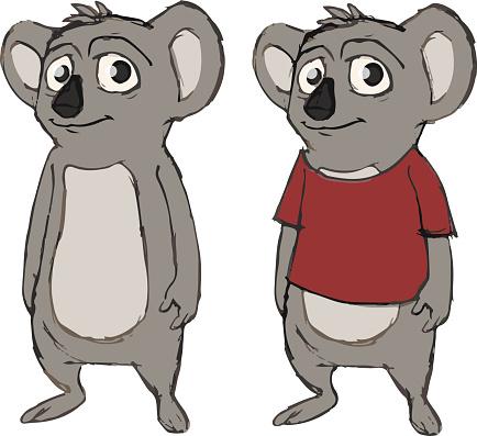 Cute koala animal cartoon character