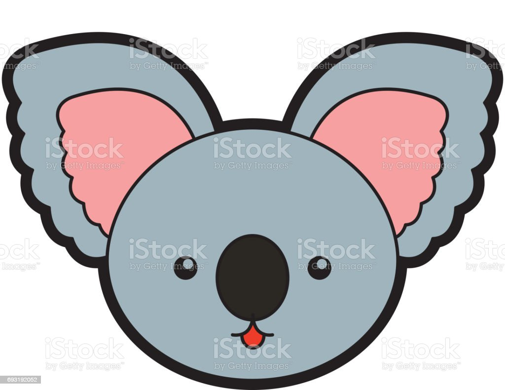 cute koala face cartoon stock vector art 693192052 istock