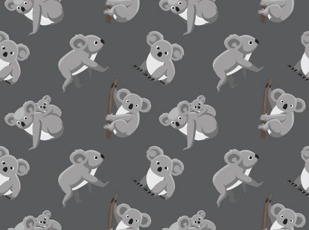 cute koala seamless wallpaper - koala stock illustrations
