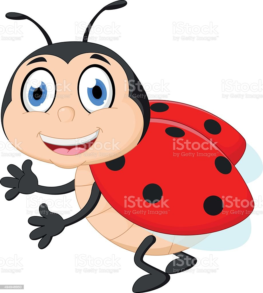 A Cartoon Ladybug cute ladybug cartoon stock illustration - download image now