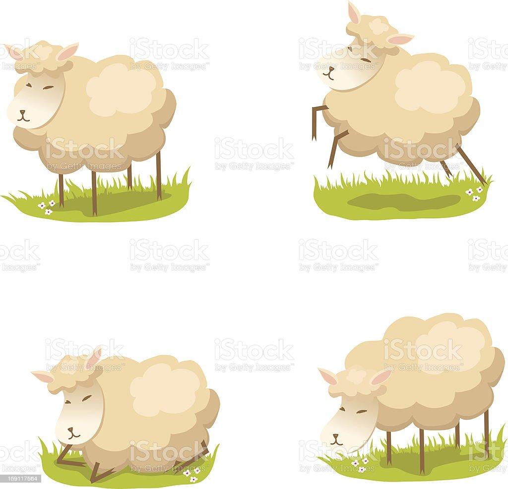 Cute lambs royalty-free stock vector art